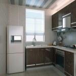 The modern kitchen interior design — Stock Photo