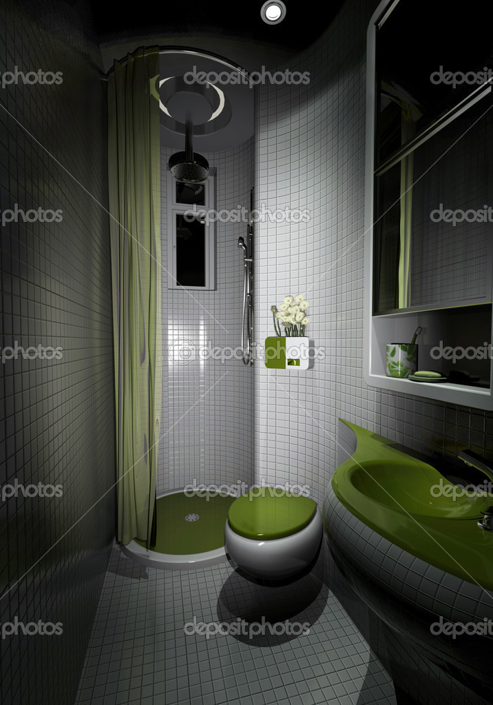 3d rendering of the bathroom interior — Stock Photo #5349472
