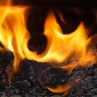 FIRE AND FLAMES BACKGRAUND — Stock Photo