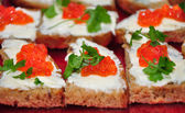 Red caviar — Stock Photo