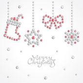Christmas jewel background — Stock Vector