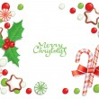 Christmas candy background — Stock Vector