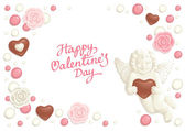 Valentine candy background — Stock Vector