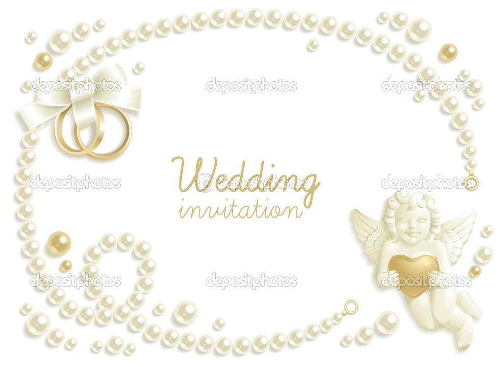 Wedding background with jewels composing a frame for your text  Stock Vector #4986939