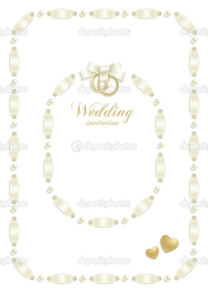 Wedding backgrounds with ribbon making a frame for your text — Stock vektor #5064922