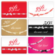 Gift card set — Stock Vector
