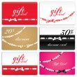 Gift card set — Stock Vector #5179759