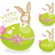 Vettoriale Stock : Easter greeting card