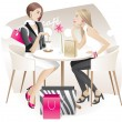 Shopaholics - Stock Vector