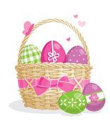 Illustration de panier de Pâques — Vecteur