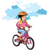Kid on bike — Stock Vector