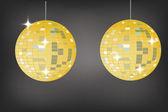 Retro party background with disco ball, illustration — Stockvektor