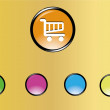 Vector de stock : Glossy icons
