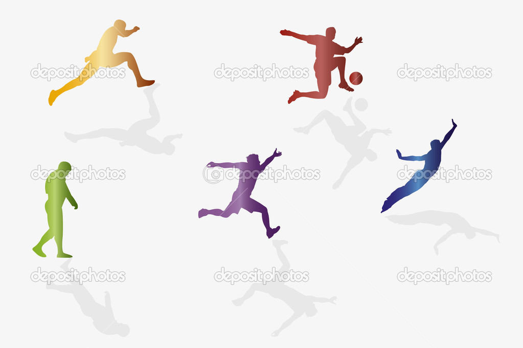 High quality sport silhouettes  — Stock Vector #4575283