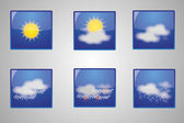Weather icons - Vector — Stock Vector