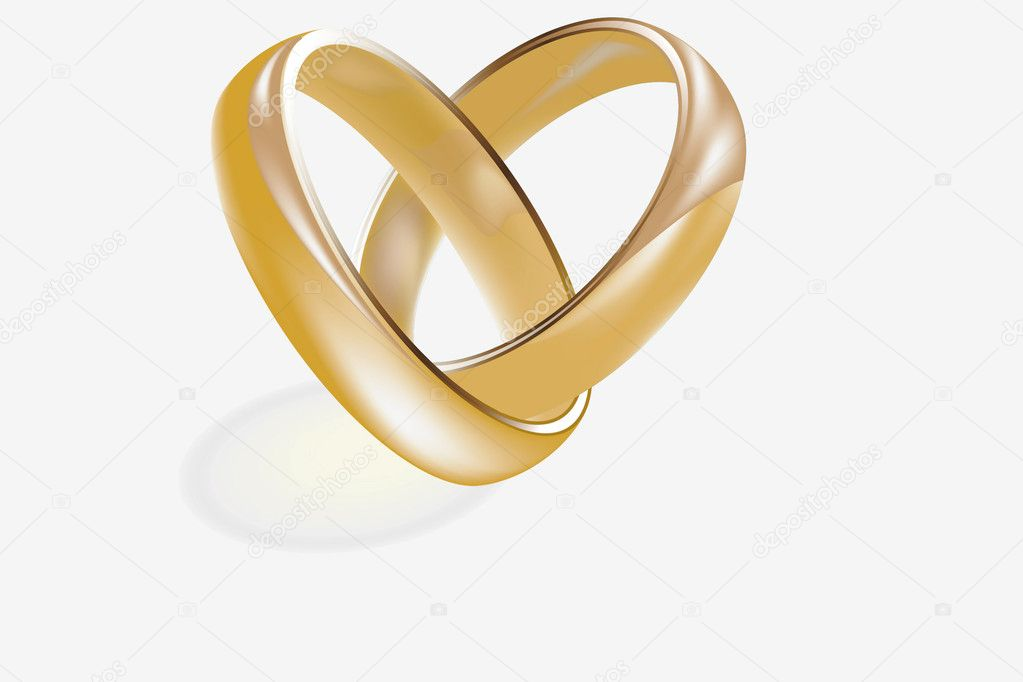 Female and male gold wedding rings stock vector for Wedding rings for male and female