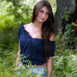 Beautiful Teen Brunette Outdoors (6) — Stock Photo #4087618