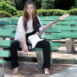Stock Photo: Beautiful Teen Girl with Guitar (1)