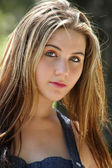 Beautiful Teen Girl Outdoors (2) — Stock Photo