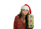Teen Girl Santa's Helper (3) — Stock Photo