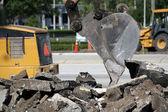 Excavator Bucket and Debris — Stock Photo