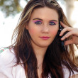 Beautiful Teen Girl with her Cell Phone (1) — Stock fotografie