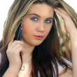 Beautiful Teen Girl with her Cell Phone (2) — Stockfoto