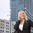 Beautiful Businesswoman Outdoors (2) — Stock Photo