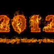 2012 new year, number, abstract, calendar — Stock Photo