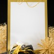 Black and Gold New Year — Stock Photo