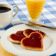 Romantic Valentine Breakfast — Stock Photo