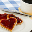 A romantic breakfast treat — Stock Photo