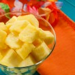 Colorful tropical pineapple salad — Stock Photo