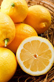 Close up of juicy yellow lemons — Stock Photo