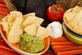 Aperitivo fresco guacamole — Foto de Stock