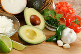 Guacamole Ingredients — Stock Photo