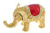Elephant jewelry box — Stock Photo