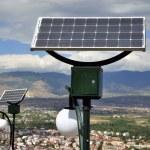 Solar Powered lights — Stock Photo