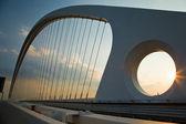 Arch of suspended bridge — Stockfoto