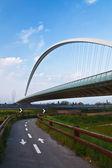 Arch av svävande bro — Stockfoto