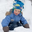 Little boy playing in the snow — Stock Photo #5137641