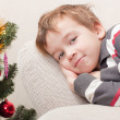 Royalty-Free Stock Photo: Boy in anticipation of  holiday