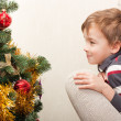 Stock Photo: Boy in anticipation of holiday