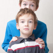 Portrait of two brothers surprised — Stock Photo #5137756
