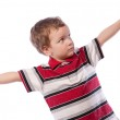 Small boy stretches his hands — Stock Photo