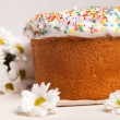 Easter cake and white flowers — Stock Photo #5138190