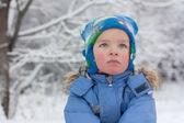 Portrait of asmall boy, winter — Stock Photo
