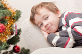 Boy in anticipation of holiday — Foto Stock