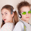 Portrait of a boy and a girl — Stock Photo #5200503