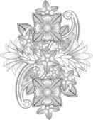 Indian flower — Stock Vector